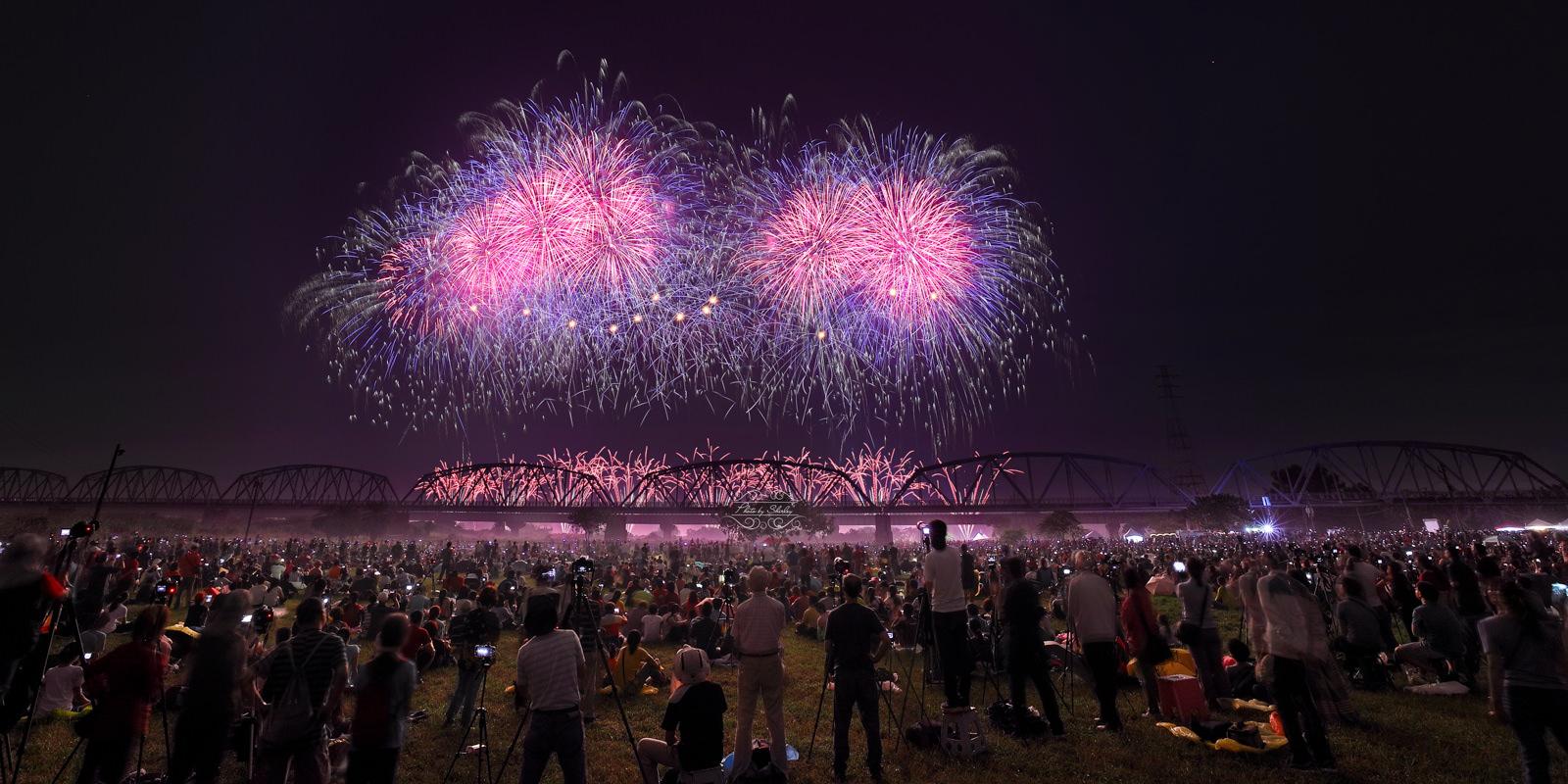 高屏舊鐵橋雙十國慶浪漫煙火